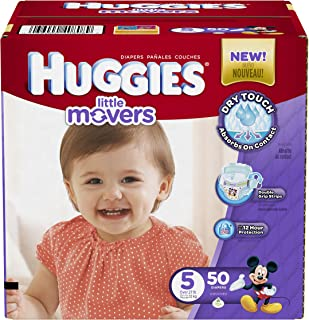Huggies Little Movers Diapers, Size 5, 50 Count (Packaging May Vary)