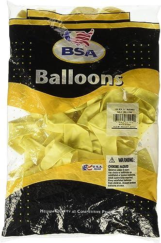Ballon d'approvisionneHommest d'Amérique 100Fête Ballons 27,9cm rond en latex Silk jaune