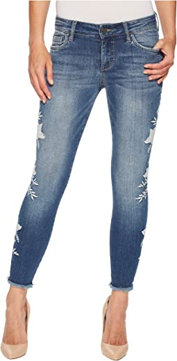 Connie Ankle Skinny Floral Applique in International