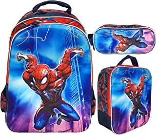 3D SPIDERMAN BACKPACK FOR KIDS BOYS INCLUDE LUNCH BAG AND PENCIL CASE | 18 INCH (SPIDERMAN 1)