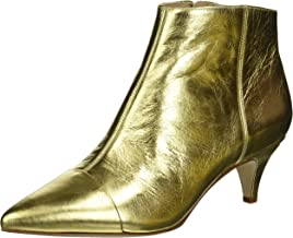 ladies gold ankle boots