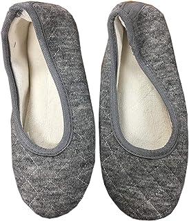 حذاء باليه مسطح مبطن من قماش التيري للنساء من isotoner