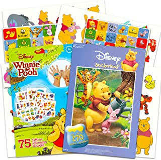 Winnie the Pooh Stickers and Tattoos Party Favors Set ~ Over 270 Reward Stickers and 75 Temporary Tattoos (Winnie the Pooh Party Supplies)