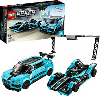 LEGO 76898 Speed Champions Formula E Panasonic Jaguar Racing Generation 2 car and Jaguar I-PACE eTROPHY Race Cars Set