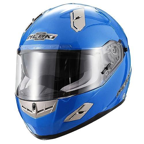 Blue Full Face Motorcycle Helmet Amazon Co Uk
