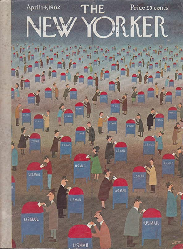 New Yorker cover Martin income tax mailbox 4/14 1962 ondqqqpv380735
