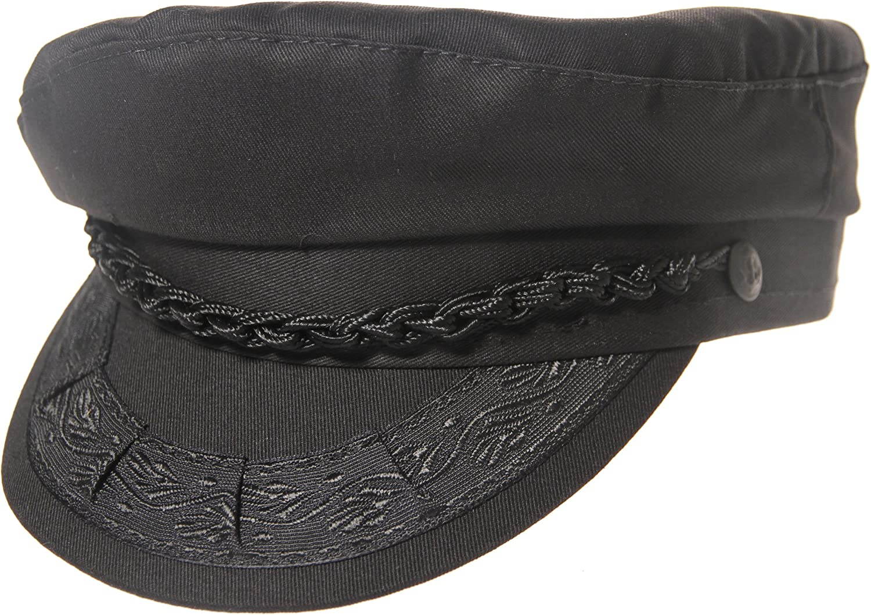 Authentic Greek Fisherman's Cap - Cotton - Black