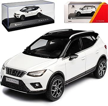 Seat Arona Suv Nevada Weiss Ab 2017 1 43 Modell Auto Mit Individiuellem Wunschkennzeichen Spielzeug