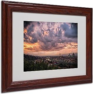 "Trademark Fine Art ""Bloody Sky"" by Giuseppe Torre, Wood Frame"
