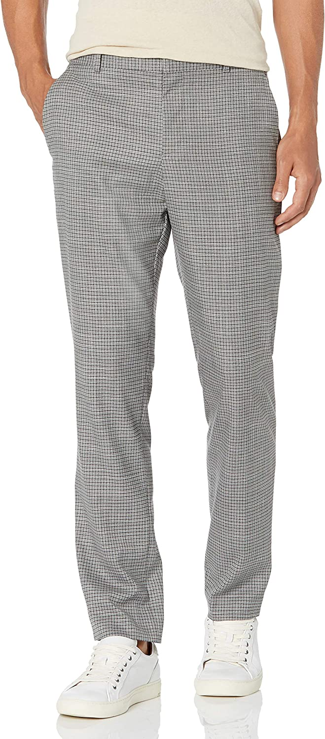 Perry Super sale period limited Ellis Men's online shopping Slim Fit Stretch Twill Pant Check