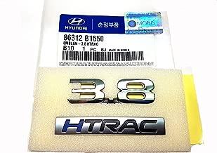 Genuine OEM Tear Trunk 3.8 HTRAC Lettering Emblem Badge For 2015~2018 Hyundai Genesis G80