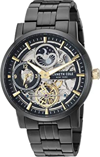 Men's Automatic Japanese-Quartz Watch with Stainless-Steel Strap, Black, 19.8 (Model: KC50917001)