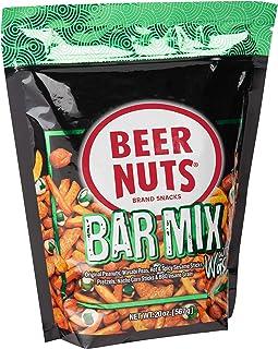 BEER NUTS Bar Mix with Wasabi - Grab Bag - 20 oz Resealable Bag, Original Peanuts, Wasabi Peas, Hot & Spicy Sesame Sticks,...