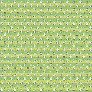 Bilderwelten Papier peint intissé - Cute Panda Wallpaper Green - Mural Carré papier peint photo intissé tableau mural photo 3D mural, Dimension HxL: 336cm x 336cm