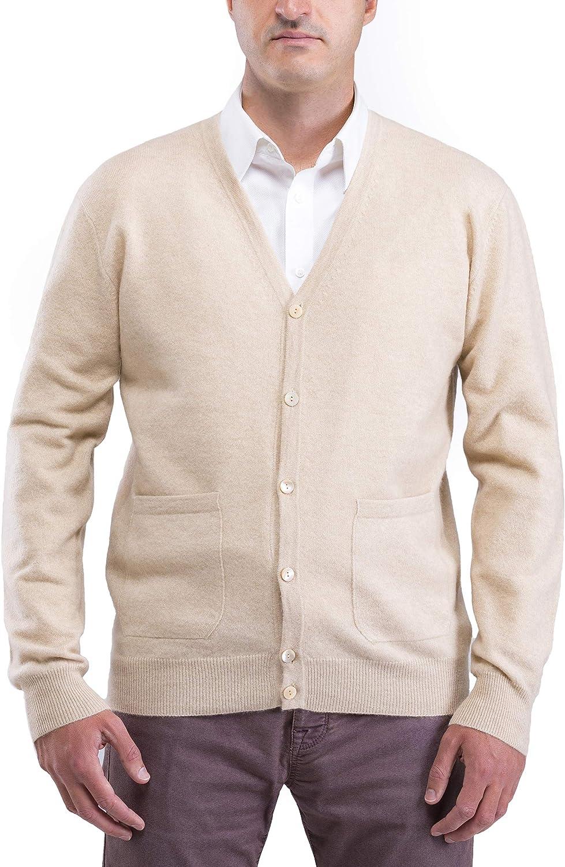 Siilen 100% Pure Cashmere Men's Pocket Cardigan