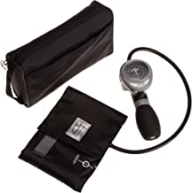 ADC Diagnostix 788 Palm Aneroid Sphygmomanometer  with Adcuff Nylon Blood Pressure Cuff and Carrying Case, Black