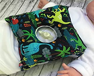 Dinosaur G-tube Pillow Belt for Infant Tummy Time