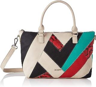 Desigual Womens PU Hand Bag, White, U