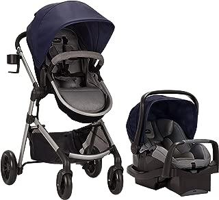 Evenflo Pivot Modular Travel System, Lightweight Baby Stroller, Sleek & Versatile, Easy Infant Car Seat Transfer, Oversized Storage Basket, Travel Stroller, 3-Panel Canopy, Navy