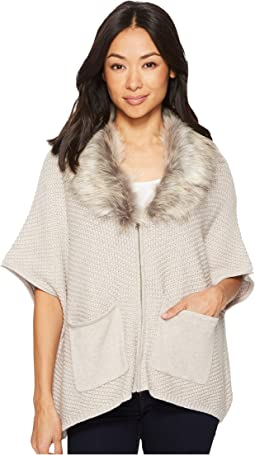 B Collection by Bobeau - Carlie Cardigan with Faux Fur