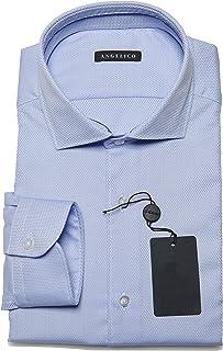 Camisa de Hombre Manga Larga - Cuello Francés - Slim Fit - 100% Algodón