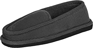 CLOVERLY Men's Corduroy House Slippers Moccasins Loafers Slip-on Comfort Indoor Outdoor Slipper Shoes