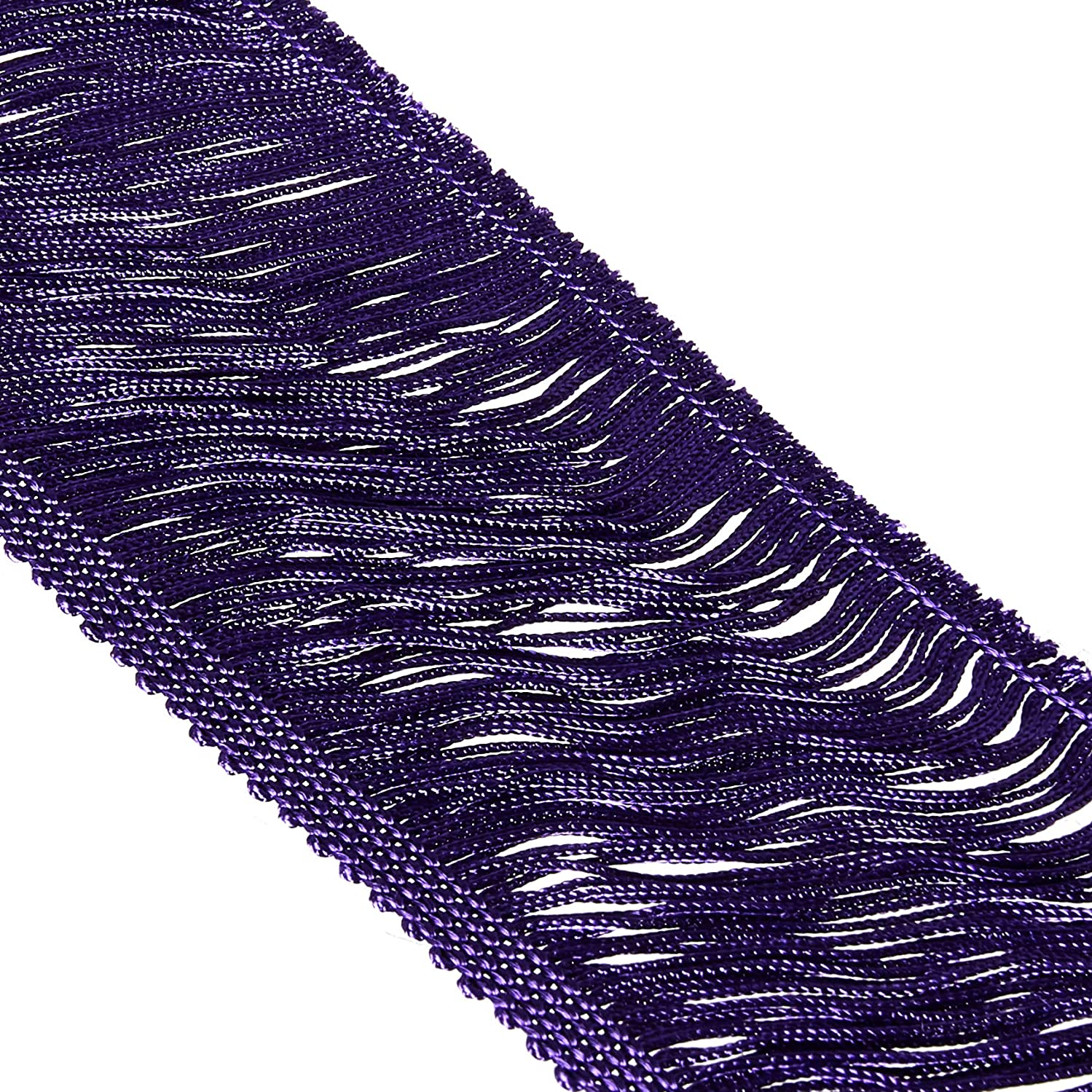 Decorative Trimmings Purple Chainette Fringe Trim 4