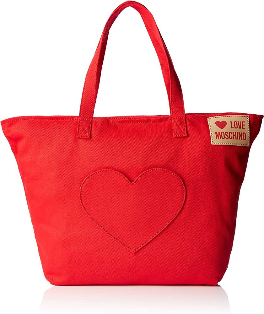 Love moschino denim, borsa a mano per donna,in cotone al 100% JC4249PP07KG