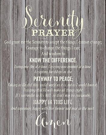 Amazon Com Dexsa Serenity Prayer New Horizons Wood Plaque 5 5 X 12 Home Kitchen