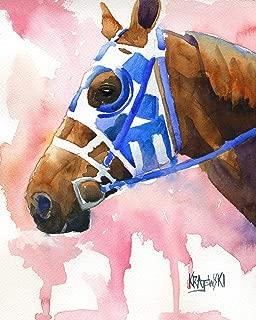 "Secretariat Art Print | Secretariat Gifts | From Original Painting by Ron Krajewski | Hand Signed Artwork in 8x10"" and 11x14"" Sizes"