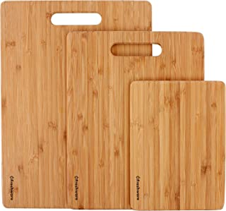 Freshware Bamboo 3 Piece Cutting Boards | 3 Layered 100% Premium Organic Bamboo | Durable Bamboo Set For Meat, Vegetables,...
