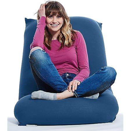 Single Seat Outdoor Beanbag Citrus Water Resistant Deck Furniture Yogibo Zoola Pod Bean Bag Cozy Patio Lounge Chair