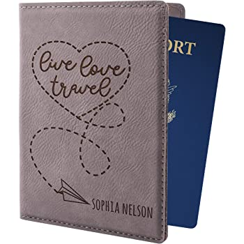 Vintage Passport Case Amusement Park Amusement Park Merry-go-round Stylish Pu Leather Travel Accessories Passport Covers Women For Women Men