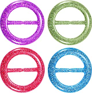 Diameter 25mm//1 Color Random 6PCS Women Lady Girls Plastic Round Circle Scarf Ring Scarves Buckle Silk Clasp Clips Clothing Ring Wrap Holder for Silk Neckerchief Clothing T-shirt