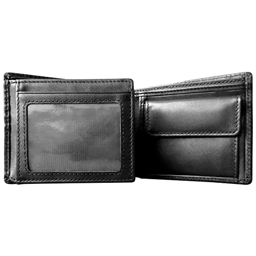 928dce1e7f7d Mt. Eston RFID Blocking Trifold Bifold with Coin Pocket Mens Leather Wallet