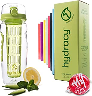 Best Hydracy Fruit Infuser Water Bottle - 32 Oz Sports Bottle with Full Length Infusion Rod, Time Marker + 27 Fruit Infused Water Recipes eBook Gift Reviews