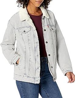 Levi's Women's Washed Cotton Sherpa Trucker Jacket (Standard & Plus Sizes)