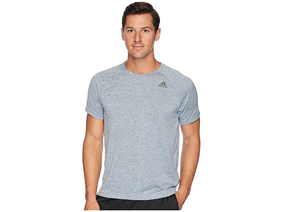 adidas Designed-2-Move Heather Tee (Raw Steel) Men