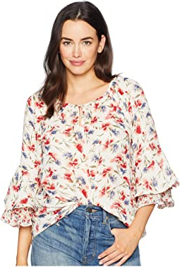Ruffled Floral Top