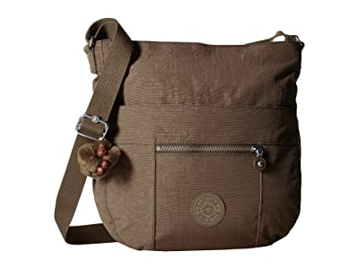 Kipling Bailey Saddle Bag Handbag (Soft Earthy Beige) Handbags