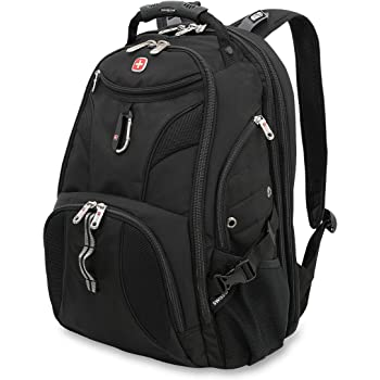 SWISSGEAR 1900 ScanSmart TSA Laptop Backpack- Black