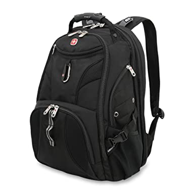 SWISSGEAR 1900 ScanSmart Laptop Backpack   Fits Most 17 Inch Laptops and Tablets   TSA Friendly Backpack   Ideal for Work, Travel, School, College, and Commuting- Black