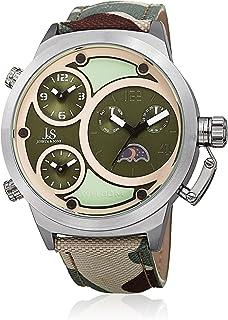 ساعة جوشوا اند سانز للرجال كوارتز ، عرض انالوج وسوار جلد Jx131Gn ، السوار بلون اخضر