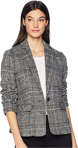 Bela Tailored Plaid Blazer