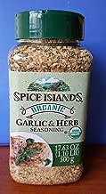 Spice Islands Organic Garlic & Herb Seasoning 17.6oz