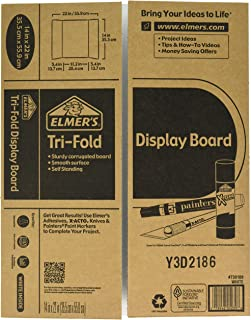 Elmer's Tri-Fold Display Board, White, 14×22 Inch