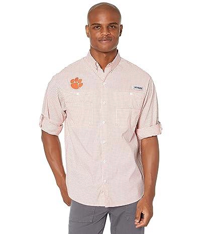 Columbia College Clemson Tigers Collegiate Super Tamiamitm Long Sleeve (Spark Orange Gingham) Men