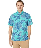 Hibiscus Fronds Classic Fit Weekend Wash Shirt