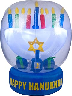 Hanukkah Inflatable Menorah & Dreidel - 5' Tall