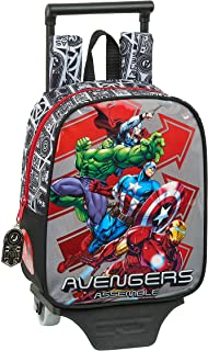 612079280 Mochila guardería ruedas, carro, trolley Avengers, Multicolor